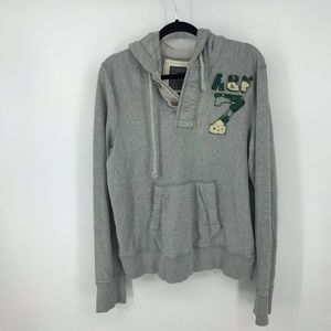 Abercrombie & Fitch Mens Gray Hoodie